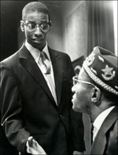 Denzel Washington and Kirk Kirksey in the 1981 New Federal Theatre production of When The Chickens Come Home To Roost.