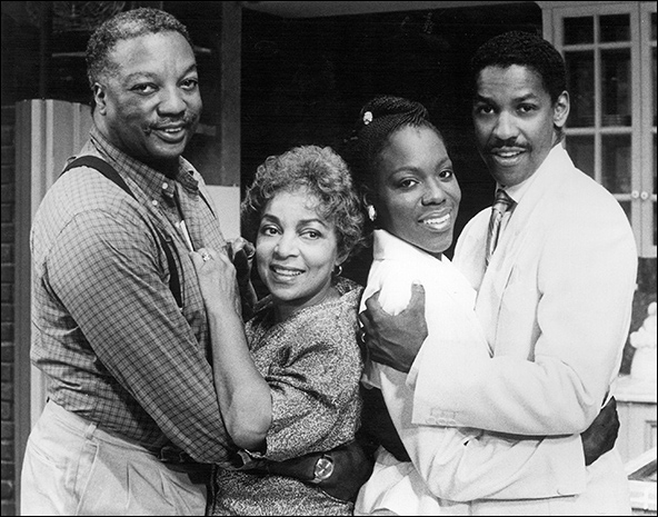 Paul Winfield, Ruby Dee, Marsha Jackson and Denzel Washington in Checkmates.