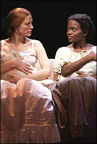 Rachel York (left) and La Chanze in <I>Dessa Rose</I>