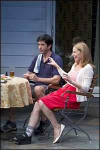 David Schwimmer and Amy Ryan