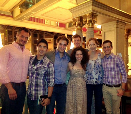 In the Orpheum lobby after the symphony with Ira (cello), Rapson, Eric (Combeferre), Briana, Holly and Will (viola).