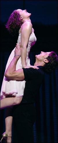 Georgina Rich and Josef Brown in the London production of <i>Dirty Dancing</i>