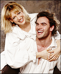 Lucy Briggs and Tom Bateman