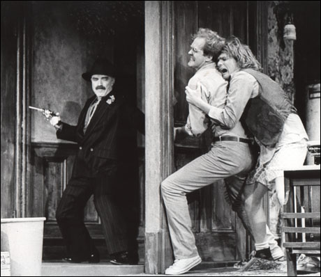 Keene Curtis, John Lithgow and Joe Regalbuto in Division Street, 1980