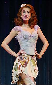Sara Gettelfinger in <I>Dirty Rotten Scoundrels</I>.