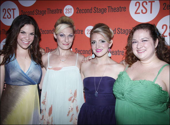 Lindsay Mendez, Becca Ayers, Annaleigh Ashford and Dierdre Friel