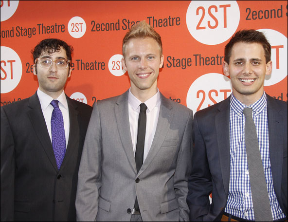 Peter Duchan, Justin Paul and Benj Pasek