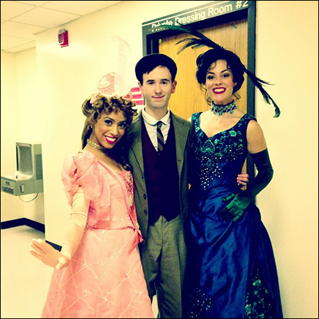 Allow me to introduce you to Minnie Faye, Barnaby Tucker, and Irene Molloy! Off to dinner at the Harmonia Gardens. I am not sure I have ever worn a dress so beautiful or so heavy! I adore playing around with these two every night...