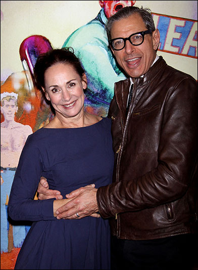 Laurie Metcalf and Jeff Goldblum