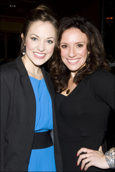 Laura Osnes and Natalie Hill