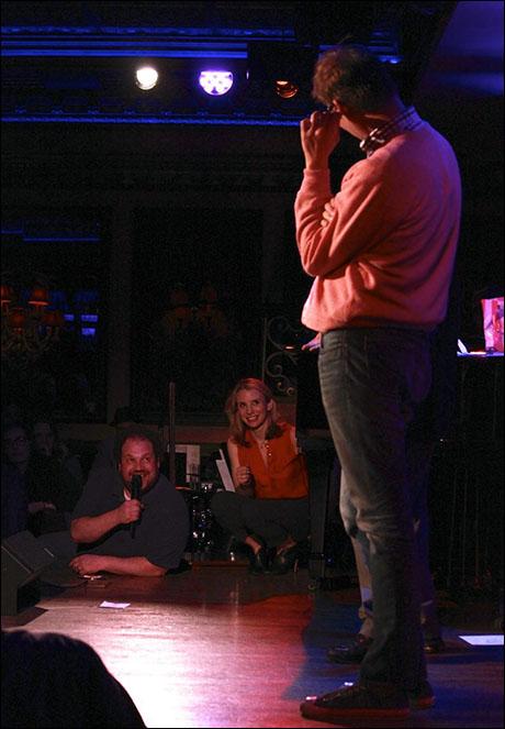 Jordan Gelber, Sarah Saltzberg and Jeff Hiller