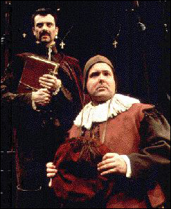 Juan Chioran and Bruce Dow in Man of La Mancha