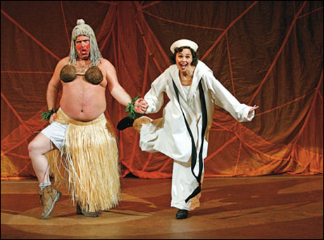 Bruce Dow and Cynthia Dale in South Pacific