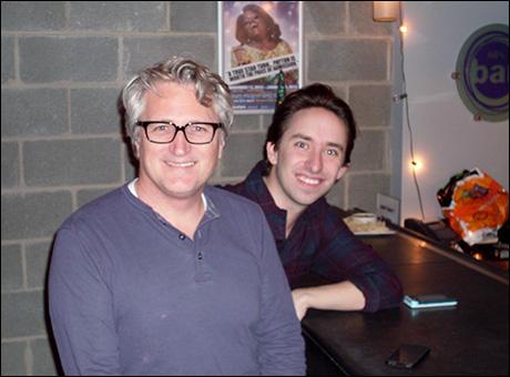 Artistic Director Eric Schaeffer (left) and Associate Artistic Director Matthew Gardiner at Ali's Bar