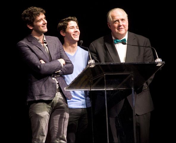 Michael Urie, Nick Jonas and Rob Bartlett