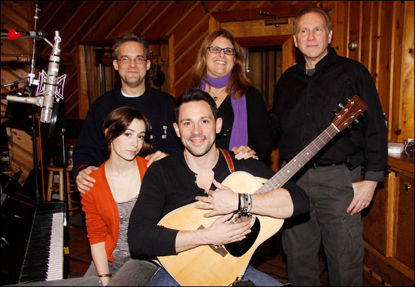 (clockwise) Martin Lowe, Liz Caplan, Steve Epstein, Steve Kazee and Cristin Milioti
