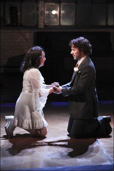Samantha Spiro and Daniel Evans