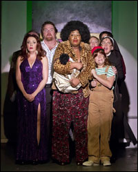 Michele Ragusa, John Treacy Egan, Charity Dawson, Haven Burton, Jonah Verdon and Jennifer Simard in <i>Disaster!</i>