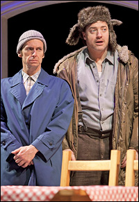 Denis O'Hare and Brendan Fraser