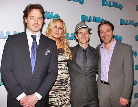 Brendan Fraser, Jennifer Coolidge, Denis O'Hare and Jeremy Shamos
