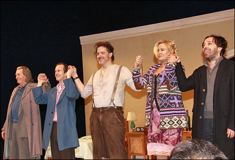Richard Easton, Denis O'Hare, Brendan Fraser, Jennifer Coolidge and Jeremy Shamos