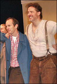 Denis O'Hare and Brendan Fraser take a bow