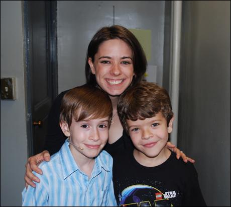I kid, I kid, Jill is a hilarious wrangler to Gaten and Sebastian. Honestly, she RARELY makes them do laps.