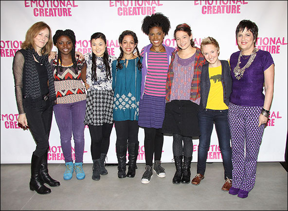 Jo Bonney, Joaquina Kalukango, Olivia Oguma, Sade Namei, Ashley Bryant, Molly Carden, Emily Grosland and Eve Ensler