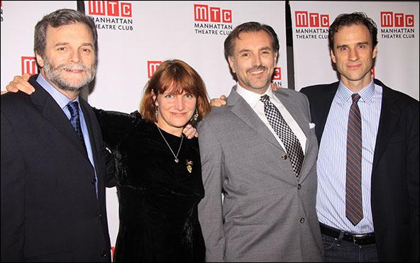 John Procaccino, Rebecca Lenkiewicz, Randall Newsome and James Waterston