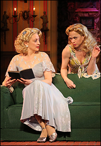 Heidi Schreck and Emily Bergl in Shakespeare in the Park's <i>Comedy of Errors</i>.