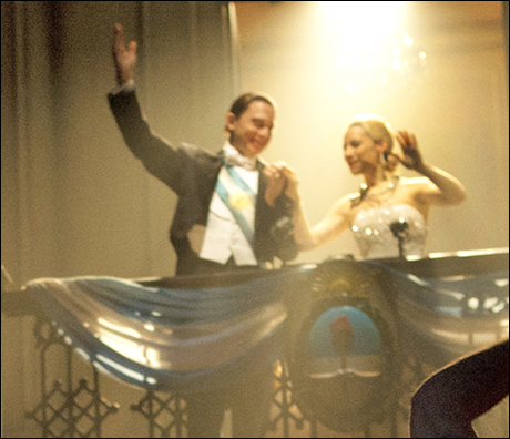 Michael Cerveris and Elena Roger in Evita