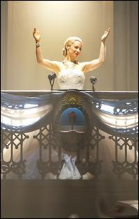 Elena Roger in <i>Evita</i>.