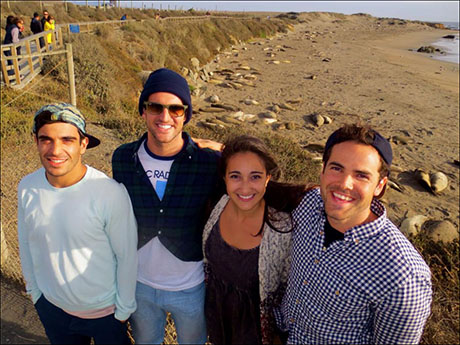 Next Stop: SAN JOSE, CA! Jeff, John, Nick, and I hanging with the seals on our road-trip up the coast!