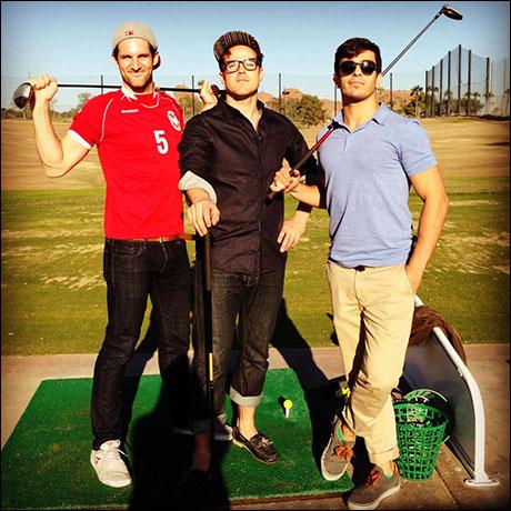 A little birthday golf in the desert for Nick!