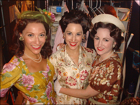 The Aristocrats of Booth 2.  Erica Mansfield, Margot De La Barre & I met when we were 16-years-old at the Broadway Theatre Project.  All these years later, now performing on Broadway together!