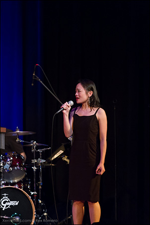 "Rona Figueroa (Miss Saigon, Les Miz) sang the Eponine part of ""A Heart Full of Love."""