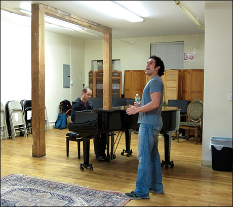 "Adam rehearses ""Out of the Bay"" from the Carner & Gregor musical UNLOCK'D, which is getting its Off-Broadway debut this summer!"
