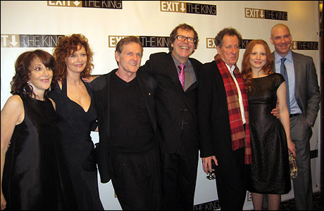 Andrea Martin, Susan Sarandon, William Sadler, director Neil Armfeld, Geoffrey Rush, Lauren Ambrose and Brian Hutchison