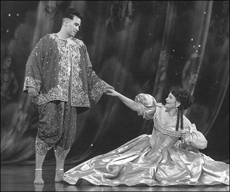 Kevin Gray and Faith Prince in The King and I