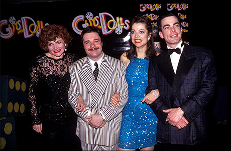 Faith Prince, Nathan Lane, Josie de Guzman and Peter Gallagher at their Guys and Dolls opening night party, April 14, 1992
