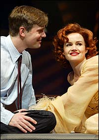 Peter Krause and Carla Gugino in <I>After the Fall</I>