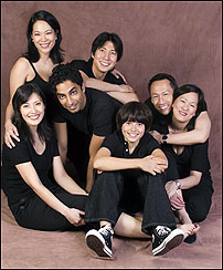 The cast of the National Asian American Theatre Company's production of <I>Falsettoland</I>.