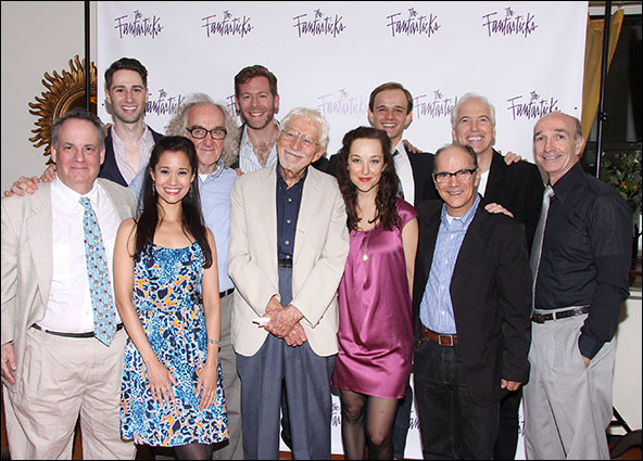 Daniel Marcus, Daniel Rowan, Ali Ewoldt, Macintyre Dixon, Allan Snyder, Tom Jones, Rita Markova, Jim Schubin, Michael Nostrand, Joseph Dellger and Tom Flagg from The Fantasticks