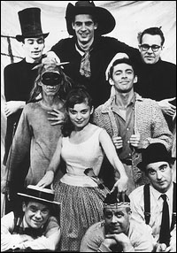 The original Off-Broadway cast of <I>The Fantasticks</I>.