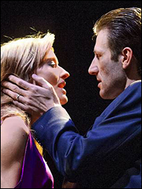 Natascha McElhone and Mark Bazeley in <em>Fatal Attraction</em>