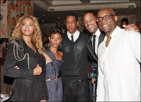 Beyonce Knowles, Jada Pinkett Smith, Jay-Z, Will Smith and Bill T. Jones