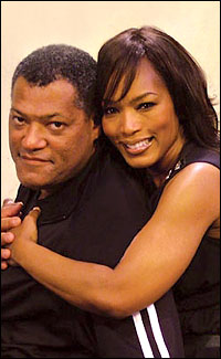 "Photo of Laurence Fishburne & his friend actress  Angela Bassett - Movie ""Boyz n the Hood"""