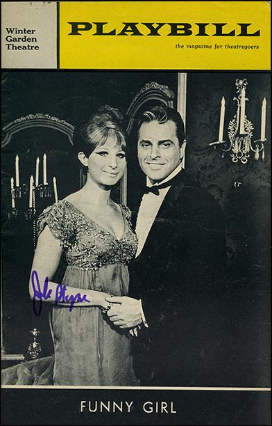Streisand and Johnny Desmond, September 1965 Playbill, signed by Jule Styne