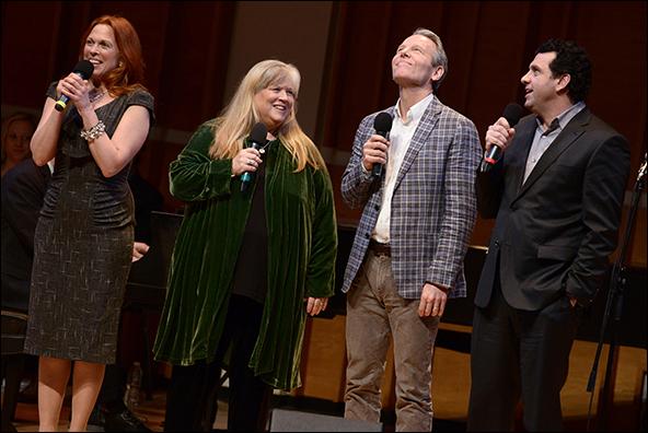 Carolee Carmello, Heather MacRae, Stephen Bogardus and Bradley Dean