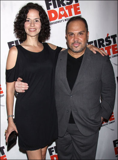 Mandy Gonzalez and Eliseo Roman